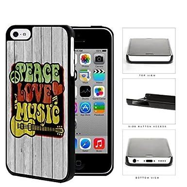 Mmz Diy Phone Casepeace Love Music Symbols In Rastafarian Colors