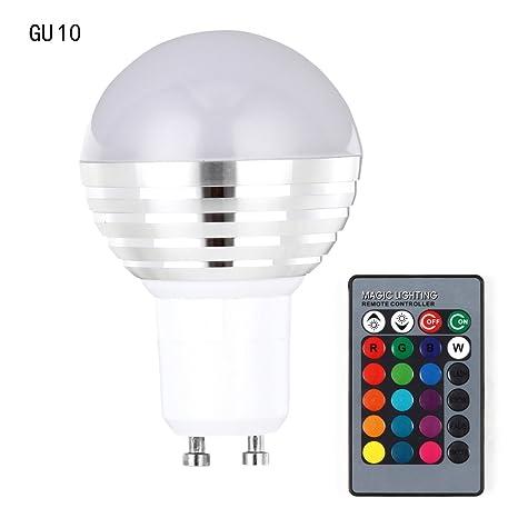 Alftek E27/B22/E14/GU10 - Bombilla LED con Mando a Distancia por