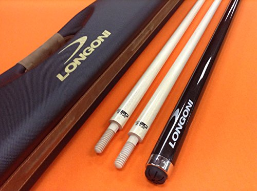 LONGONI CAROM CUE CRYSTAL WITH TWO S20 SHAFTS & CASE by LONGONI