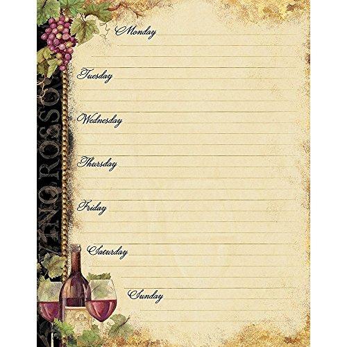 Gilded Wine Jumbo Weekly Planner