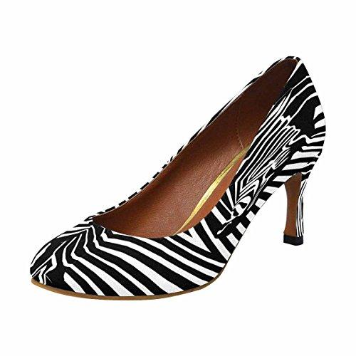 Modello Di Scarpe Da Donna Con Il Tacco Alto Di Interesse Della Collezione Classica In Bianco E Nero Con Zebra