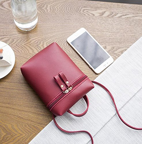 Bag Carrier PU Bag Leather BaBaSM Black Mini Bags Purse Handbag Sling Bag Diagonal Women Shoulder 7zqwXqPZF
