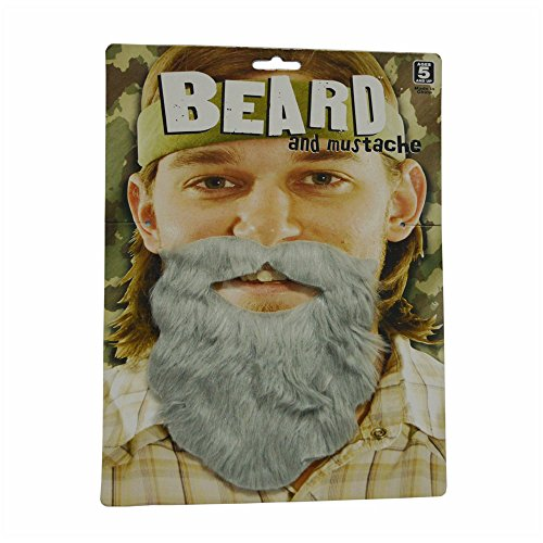 Last Minute Diy Halloween Costumes For Adults (CHOP MALL® Happy Halloween Wacky Facial Hair Self Adhesive Beard Moustache Costume Accessory for Halloween Dress-Up Costume Party)