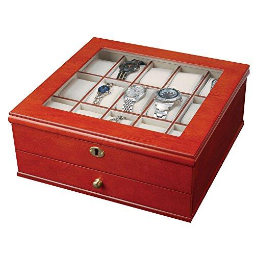 Mele & Co. 0067711 Chris Locking Wooden Watch Box (Box Chris Watch)