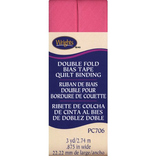 Wrights Double Fold Quilt Binding, 7/8 by 3-Yard, Candy (Wrights Double Fold Quilt Binding)