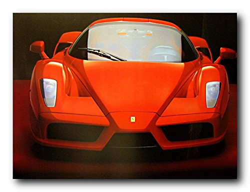 (Red Ferrari Enzo Exotic Sports Car Wall Decor Art Print Poster (16x20))