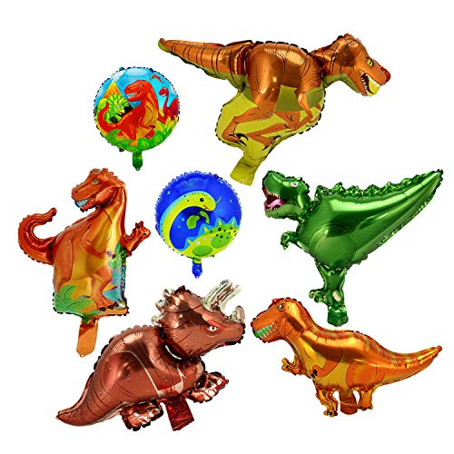 LITTLE SIENA Dinosaur Party Supplies Dinosaur balloons Animal for Birthday Party baby shower Decoration Kit Inflatable party supplies and decorations for kids,7pcs ()