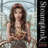 img - for Steampunk 2018 12 x 12 Inch Monthly Square Wall Calendar by Flame Tree, Art Design Subculture book / textbook / text book