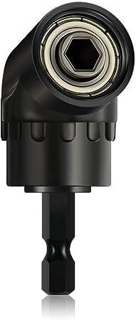 Right Angle Drill Adapter Tight Spaces Drills Attachment 1//4 Inch Hex Drill Bit