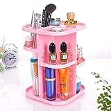 Kangsur Desk Organizer Multifunction Cosmetics Storage Adjustable 360 Degree Rotable