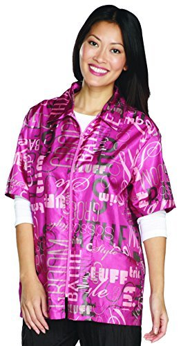 Top Performance Graffiti Print Grooming Jackets - Lightweight, Easy-Fit Nylon Jackets for Professional and Amateur Pet Groomers - Small, Pink by Top - Performance Print Top Graffiti