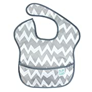 Bumkins Waterproof SuperBib, Gray Chevron (6-24 Months)