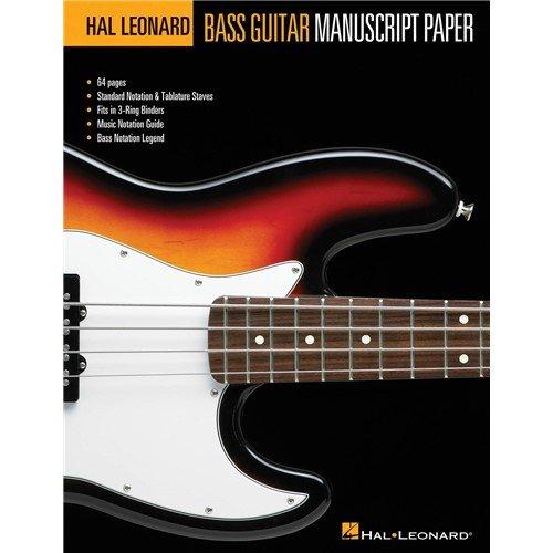 Hal Leonard Bass Guitar Tab Manuscript Paper. For Basso elettrico