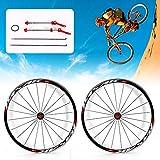 NOPTEG 700C Bicycle Bike Wheel Front Rear Wheel Wheelset Aluminium Alloy Rim 30mm USA