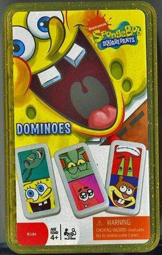 (Spongebob Squarepants Kids Dominoes in Storage Case by Nickelodeon)