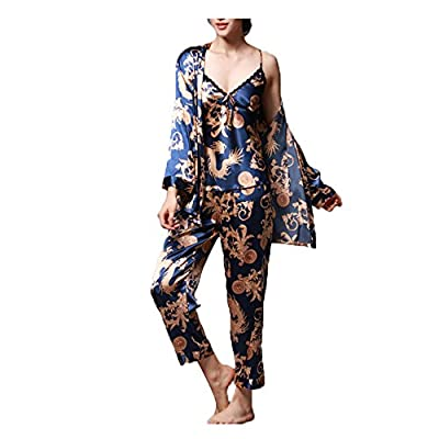 Loveylife Women Long Silk Robes Women Luxurious Sleepwear Satin Silk Home Bathrobe Sets