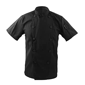 ropa traje chaqueta de cocinero para hombres mujeres cuello mao de manga corta cocina uniforme encabeza