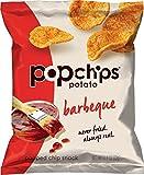 Popchips Potato Chips, BBQ Potato Chips, 24 Count (0.8 oz Bags), Gluten Free Potato Chips, Low Fat, No Artificial Flavoring, Kosher