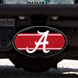 Great American Products NCAA Alabama Crimson Tide Oval Hitch Cover, One Size, Black