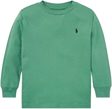 Ralph Lauren Polo - Camiseta de Manga Larga para niño, Color Verde ...