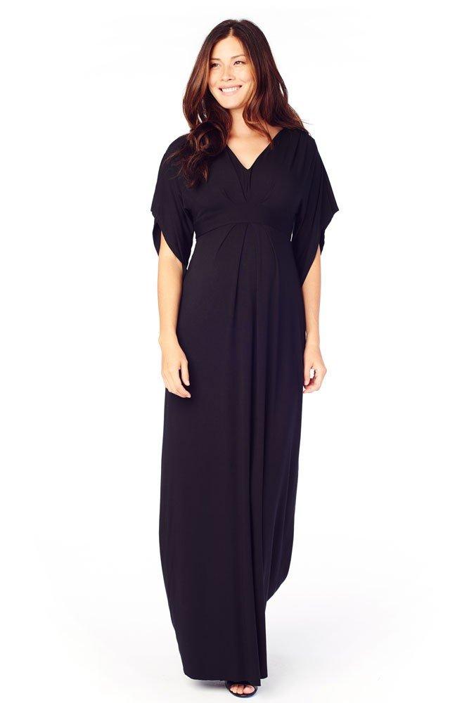 Ingrid & Isabel Women's Maternity Kimono Maxi Dress, Black, Medium