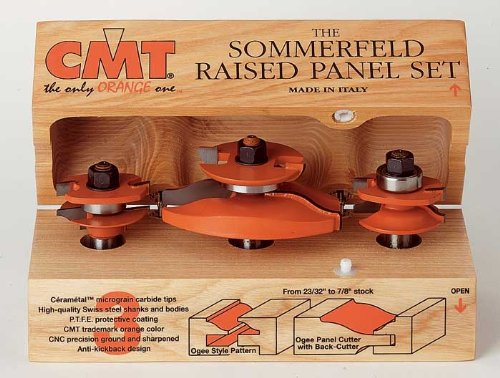 CMT 80052111 3-Piece Ogee Raised Panel Set 12-Inch Shank