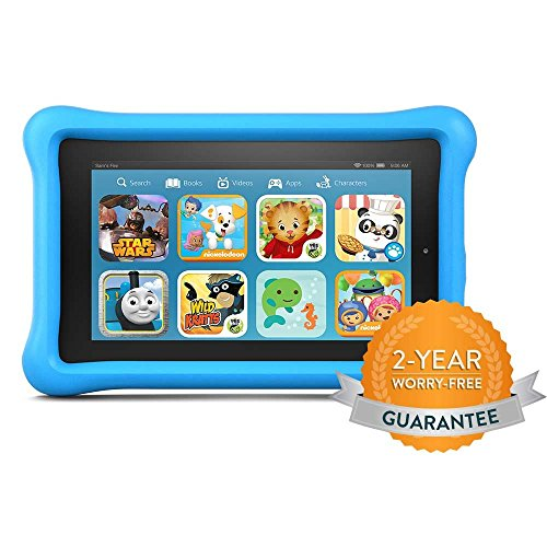 Fire Kids Edition Tablet, 7″ Display, 16 GB, Blue Kid-Proof Case (Previous Generation – 5th)