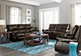 Kingston Traditional Burgandy Color Faux Leather Sofa and Loveseat