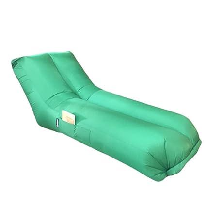 Saco de dormir reclinable perezoso portátil, sofá de aire portátil inflable del recliner del aire con ...