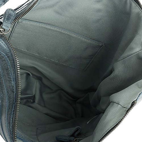 FREDsBRUDER Cinturatier S Borsa a spalla pelle 33 cm blue_blue, blau