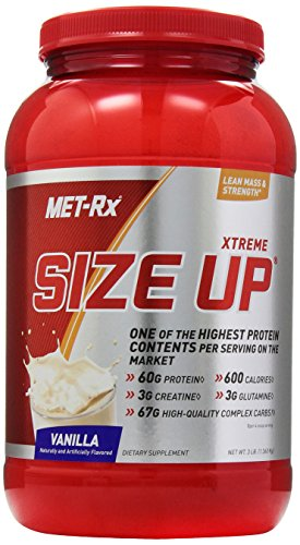 MET-Rx Size Up Gainer Diet Supplement, Vanilla, 3 Pound