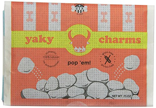 Image of HIMALAYAN YAKY CHARMS DOG TREAT DOG POPCORN 6 PACK MADE IN USA