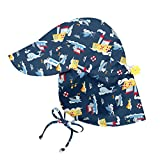i play.. Baby Boys' Flap Sun Protection Hat, Navy Tugboat, 0-6 Months