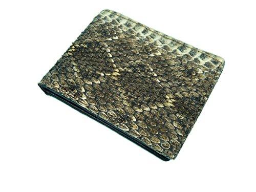 Genuine Rattlesnake Skin Wallet: Bifold