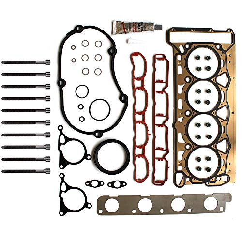 SCITOO Head Gasket Bolts Set Replacement for Audi A4 Quattro Audi A5 Quattro Audi Q5 Audi TT Volkswagen Beetle Volkswagen CC Volkswagen Eos 08-13 Head Gaskets Kit Sets