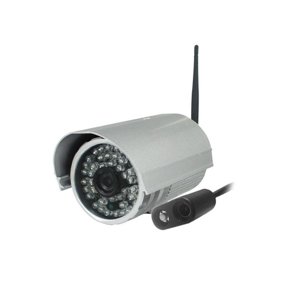 IP Cámara de Vigilancia, Visión Nocturna Vigilancia Seguridad Wifi, Impermeable HD 720P Inalámbrica Camera con Alarma Detección Movimiento/ Micrófono ...
