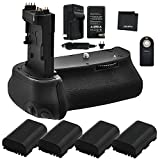 Battery Grip Bundle F/Canon EOS 6D Mark II: Includes BG-E21 Replacement Grip, 4-Pk LP-E6 / LP-E6N Long-Life Batteries, Charger, UltraPro Accessory Bundle