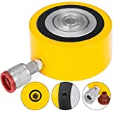 Mophorn 30 tons 2'' Stroke Hydraulic Cylinder Jack Solid Multi Stage Low Height Hydraulic Cylinder Jack Ram 50mm Hydraulic Lifting Cylinders for Riggers Fabricators (30T 2'')