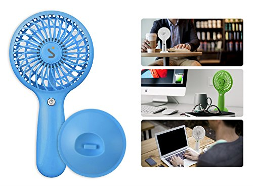 New 2017 S.modo 158 Cordless Ultra Portable & Powerful Handy Mini Fan with 3 Adjustable Wind Speeds (Green)