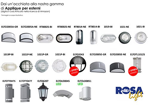 Applique in alluminio pressofuso SMALL versione GIU - NERO ELTO6102