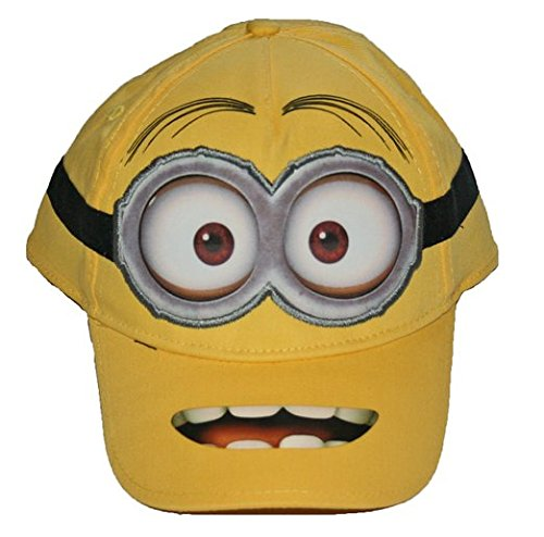 [Despicable Me Minion Boys Snap Back Baseball Hat Cap] (Despicable Me Minion Hats)