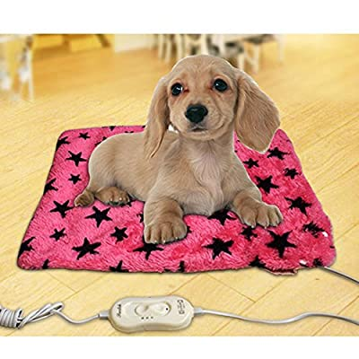 Heating Pads for Pets, Electric Heating Pad for Dogs &Cats Warming Dog Beds Pet Mat Pressure Activated with Chew Resistant Cord Soft Removable Cover