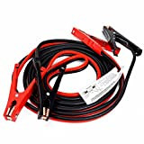 (KS) 20 Foot Long Heavy Duty 4 Gauge Booster Cable Jumping Cables Power Jumper Starter Auto - Red & Black for Positive & Negative Terminals
