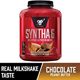 BSN SYNTHA-6 Whey Protein Powder, Micellar Casein, Milk Protein Isolate, Chocolate Peanut Butter, 48 Servings (Packaging May Vary)