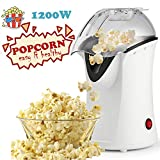 Best Air Popcorn Poppers - Popcorn Machine 1200W Hot Air Popcorn Popper Electric Review