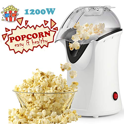 Popcorn Machine 1200W Hot Air Popcorn Popper Electric Maker for