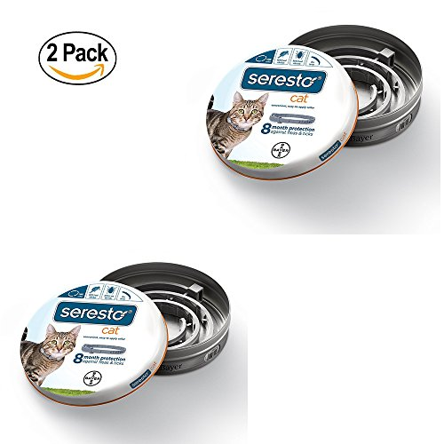 Bayer Seresto Flea and Tick Collar for Cat, all weights, 2 Pack