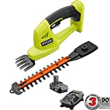 Ryobi 18-Volt Lithium-Ion Cordless Grass Shear and Shrubber Trimmer - 1.3 Ah Battery