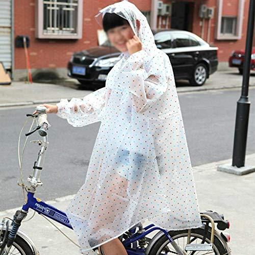 E Hx Lunga Chic Impermeabile All'aperto Escursionismo Bicicletta Ragazza Grucce Poncho Di Singolo Cappello Donne Trasparente Adulto Fashion 1 wr0qrI