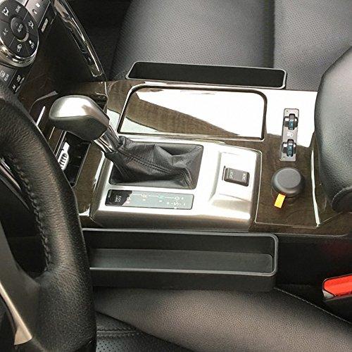 Price comparison product image IPELY Console Side Pocket , Car Seat Gap Filler,  Car Seat Slit Pocket Catcher Organizer Storage Box, Fills the Gap Between the Seat (Black - Set of 2)